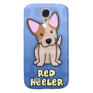 Rojo azul Heeler del dibujo animado Funda Para Galaxy S4