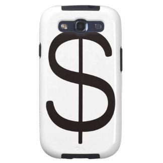Rojo azul negro del dólar Sign$ Samsung Galaxy S3 Cárcasa