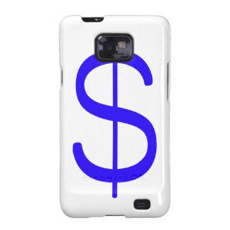 Rojo azul negro del dólar Sign$ Samsung Galaxy SII Carcasa