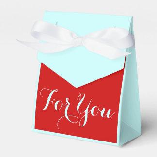 Rojo azul que casa la celebración corporativa caja para regalos