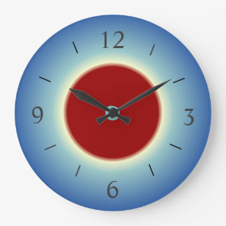Rojo/azul simplista/amarillo > reloj de pared