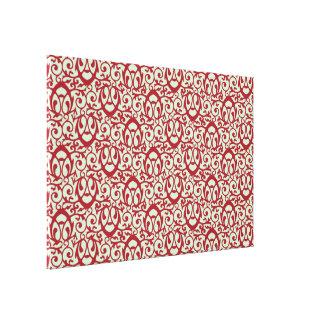 Rojo barroco y menta del modelo impresiones en lienzo estiradas