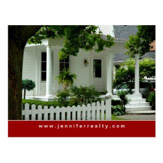 Rojo blanco 2 de la casa verde de las postales de