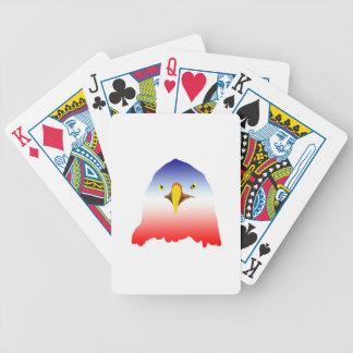 rojo blanco azul del águila baraja cartas de poker