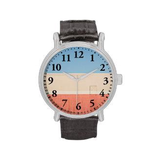 Rojo blanco azul relojes de mano