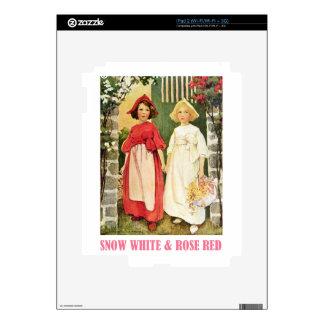 Rojo blanco como la nieve y color de rosa calcomanías para iPad 2