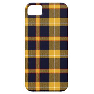 Rojo blanco de tartán de la tela escocesa del funda para iPhone SE/5/5s
