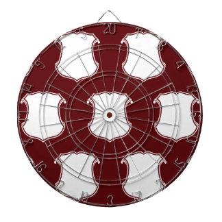 Rojo blanco del escudo del escudo
