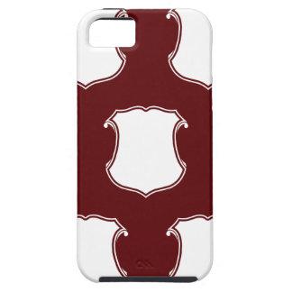 Rojo blanco del escudo del escudo iPhone 5 Case-Mate coberturas