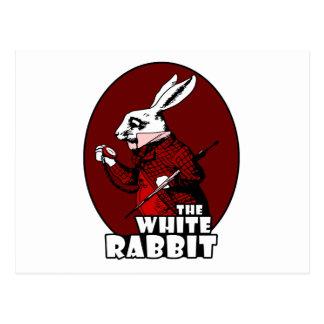 Rojo blanco del logotipo del conejo postal