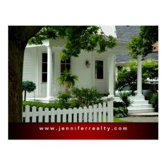 Rojo blanco Ftr de la casa verde de las postales d