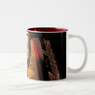 Rojo/blanco futuros de la taza de Buddah