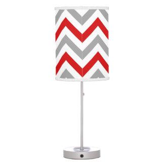 Rojo, blanco, modelo de zigzag grande gris de DK
