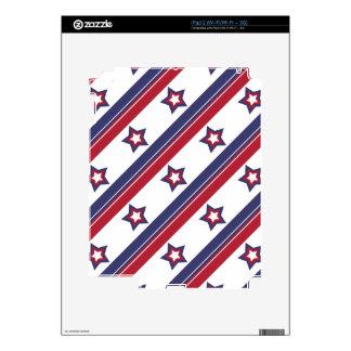 Rojo, blanco y azul calcomanías para el iPad 2