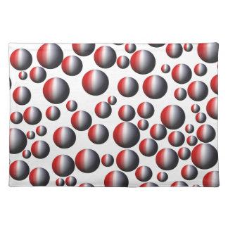 Rojo, blanco y azul circunda Placemats Mantel