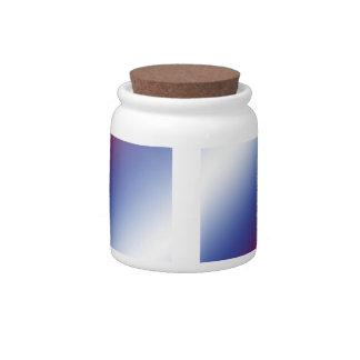 Rojo, blanco y azul platos para caramelos