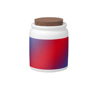 Rojo, blanco y azul jarra para caramelo