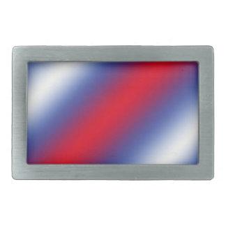 Rojo, blanco y azul hebillas de cinturon rectangulares
