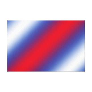 Rojo, blanco y azul lienzo envuelto para galerías