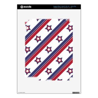 Rojo, blanco y azul pegatinas skins para iPad 3