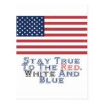 Rojo, blanco y azul postal