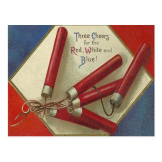Rojo blanco y azul tarjetas postales