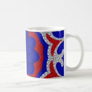 Rojo, blanco y Blue_ Taza De Café