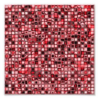 Rojo, blanco y modelo de rejilla texturizado negro arte fotografico