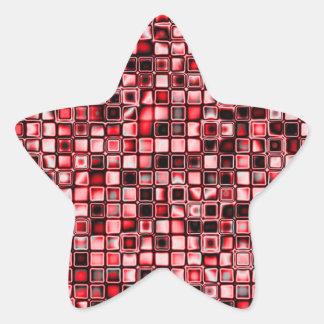 Rojo blanco y modelo de rejilla texturizado negro pegatinas