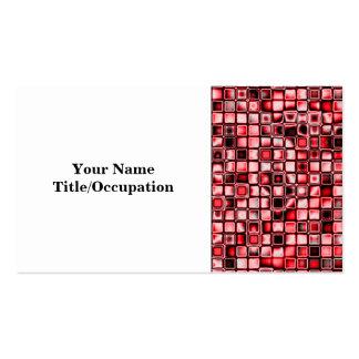 Rojo, blanco y modelo de rejilla texturizado negro tarjetas de visita