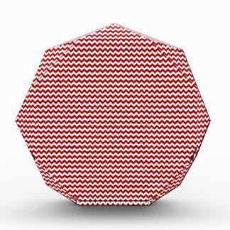 Rojo blanco y oscuro del zigzag - de caramelo de A