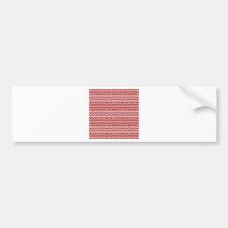 Rojo blanco y oscuro del zigzag - de caramelo de A Etiqueta De Parachoque