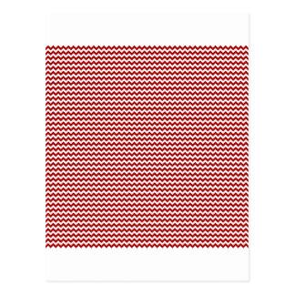 Rojo blanco y oscuro del zigzag - de caramelo de A Tarjeta Postal