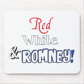 ¡Rojo, blanco, y Romney! Tapetes De Raton