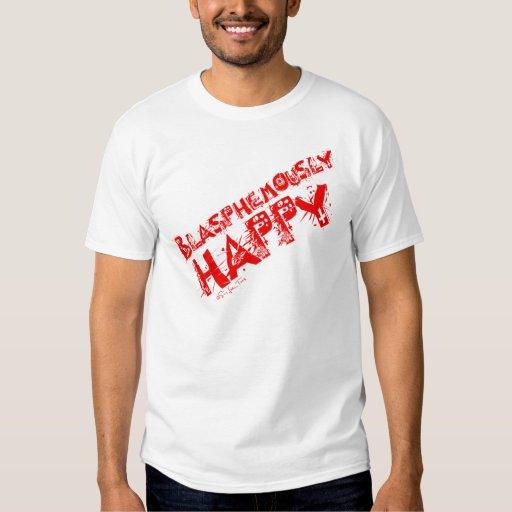 Rojo blasfemo feliz remera