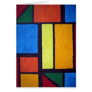 Rojo borroso de Mondrian Tarjeta De Felicitación