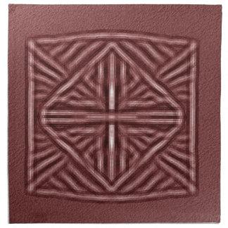 rojo borroso del símbolo servilleta imprimida