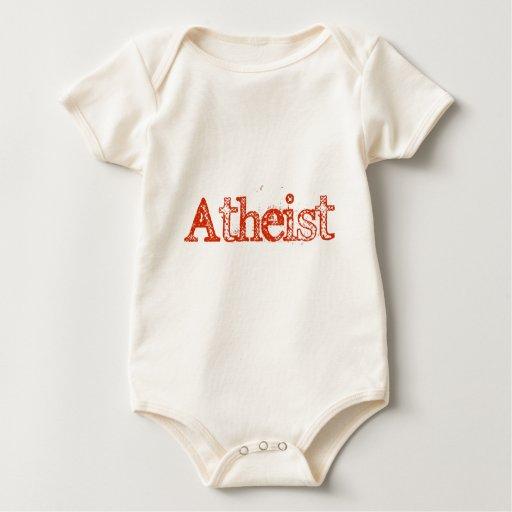 Rojo brillante ateo body para bebé