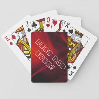Rojo brillante baraja de cartas