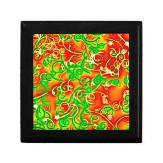 rojo brillante, verde cajas de joyas