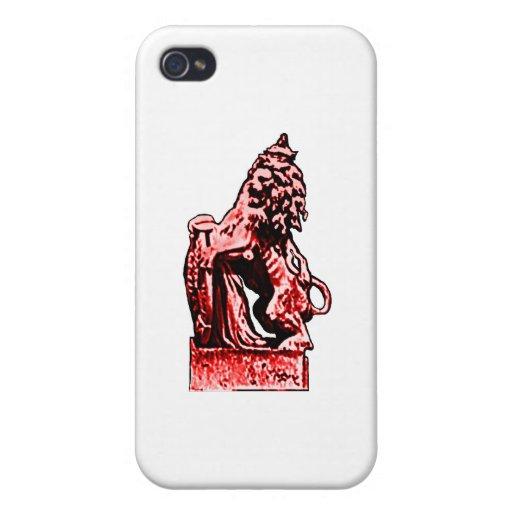 Rojo británico del león rv del emblema los regalos iPhone 4/4S funda