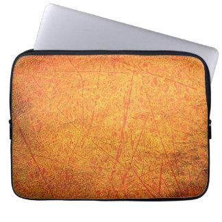 Rojo/caja anaranjada del ordenador portátil del ra manga portátil