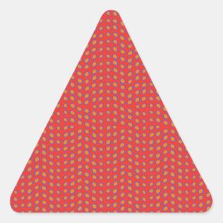 Rojo caliente de los puntos de Geo Calcomanías Trianguloes Personalizadas