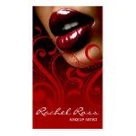 Rojo cardinal brillante delicioso de Curliques el  Plantilla De Tarjeta Personal
