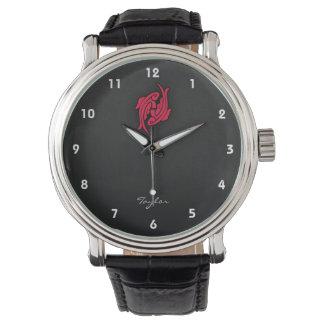 Rojo carmesí Piscis Relojes