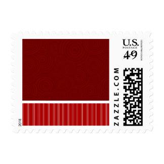 Rojo carmesí y cardinal sello