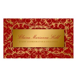 Rojo cereza divino de oro 311 tarjetas de visita