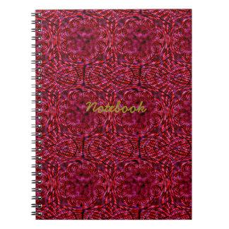 Rojo cereza libretas espirales