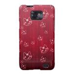 Rojo cereza lindo fresco del japonés del neko del  samsung galaxy s2 funda