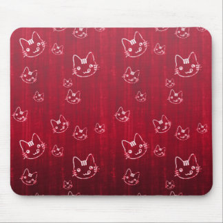Rojo cereza lindo fresco del japonés del neko del  tapete de ratones